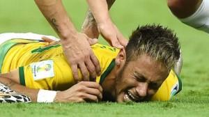 Neymar fin jwe pou Coupe du monde sa a li gen yon vetebre ki kase