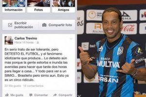 """México : Un politicien mexicain traite Ronaldinho de """"singe brésilien"""