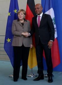 Allemagne:  la Chancelière Angela Merkel reçoit le Président Michel Martelly