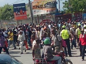 Haiti: La manifestation a essuyé des jets de pierres au niveau de Delmas