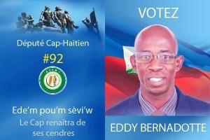 Haiti: Eddy Bernadotte, candidat à la députation pour le Cap-Haitien