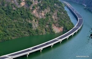 Monde: Ouverture de la première autoroute écologique construite au-dessus de l'eau