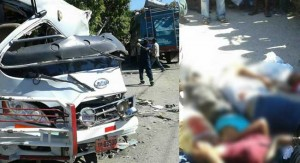 Haiti: Plus de 12 morts dans un terrible accident à Fonds des Nègres ( IMAGES CHOQUANTES )